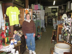 Shirley Degenhardt of Treasures on the Korner in Norwalk, Wisconsin.