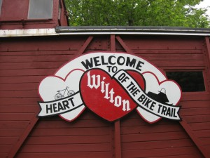 The Wilton information Caboose welcomes you to the Elroy-Sparta Trail.