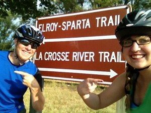 Biking enthusiasts, Paul and Rachel, deciding which biking trail to take!