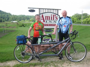 Nan and Bill of El Paso, Illinois getting ready to experience the beauty of the Elroy-Sparta State Trail.
