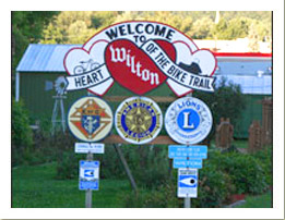 Welcome to Wilton Wisconsin Sign