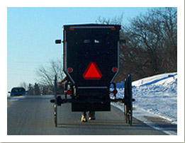 Following an Amish Carriage