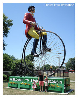 Welcome to Sparta Wisconsin Statue